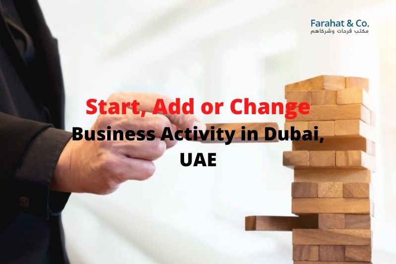 Add or Change Business Activity in Dubai