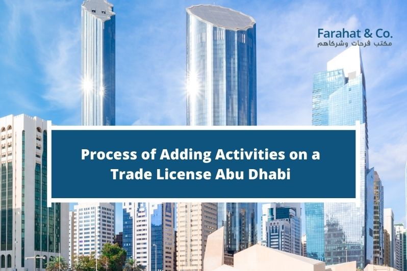 Adding Activities on a Trade License