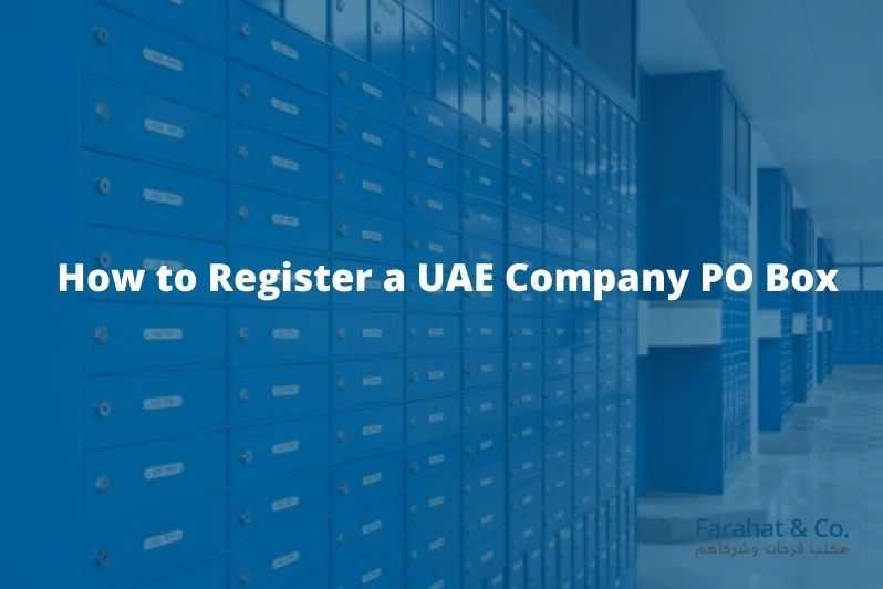 how to register PO box in UAE